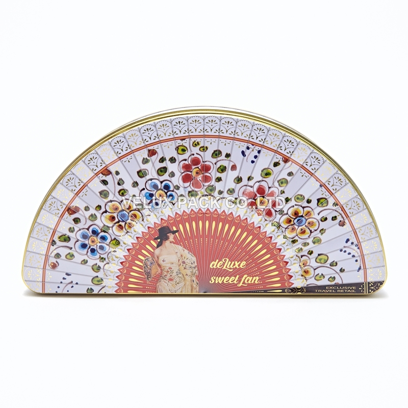 Candy Tin With Fan Shape