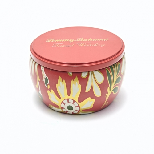 Big Belly Candle Tin Box Round Metal Tin Box