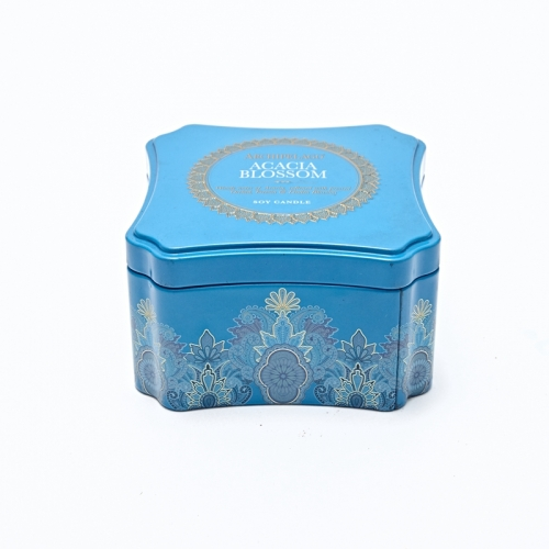 Square Metal Tin Box Hot Sale Candel Tin Box