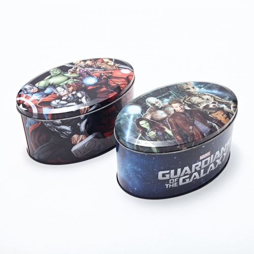 Biscuit Metal Box With Custom Printed Tin Cans